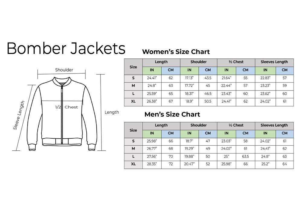 Bomber Jacket Size Chart
