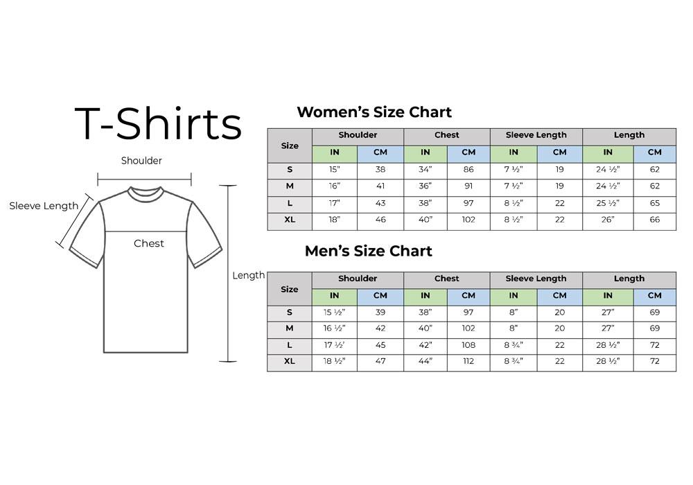 Tshirts Size Chart