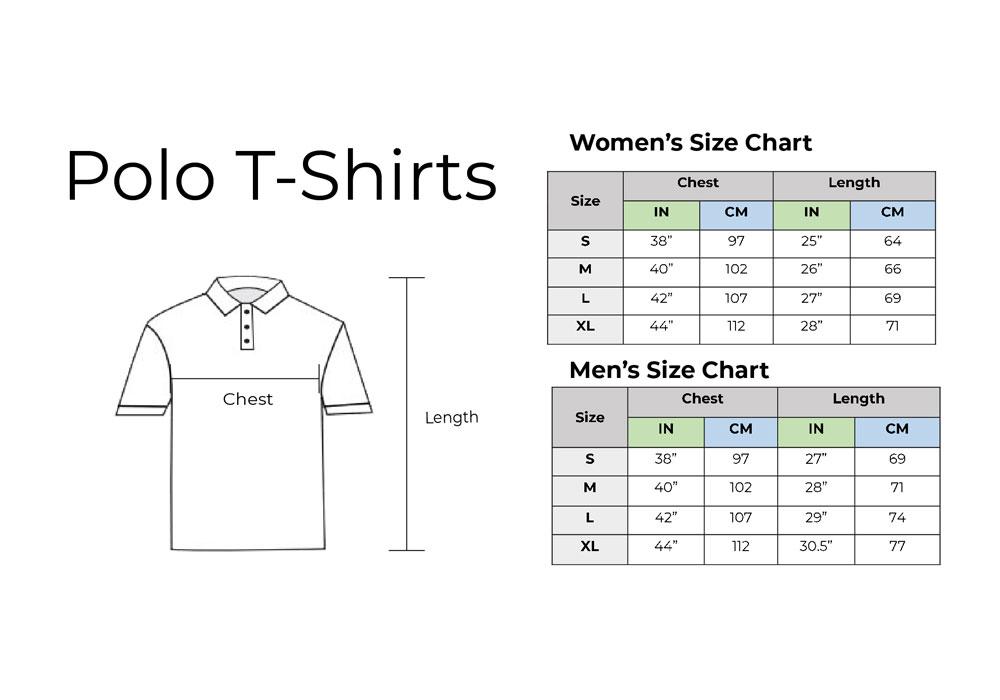 Polo Shirt Size Chart